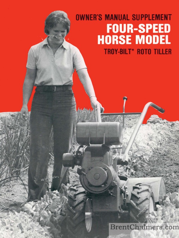 Tiller manuals 1978 troy bilt owners manual supplement four speed horse model roto tiller 24 pages publicscrutiny Choice Image