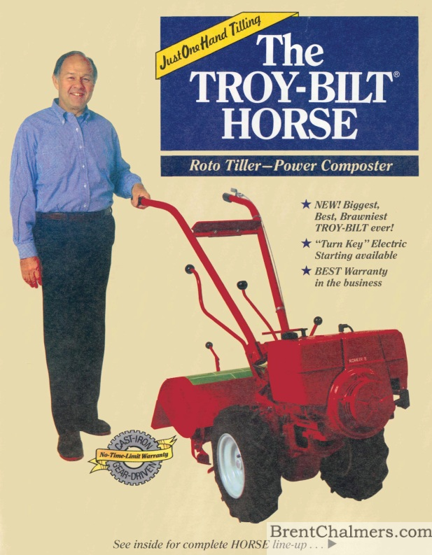 Beautiful 1984 Troy Bilt Brochure Roto Tiller Power Composter (8 Pages)