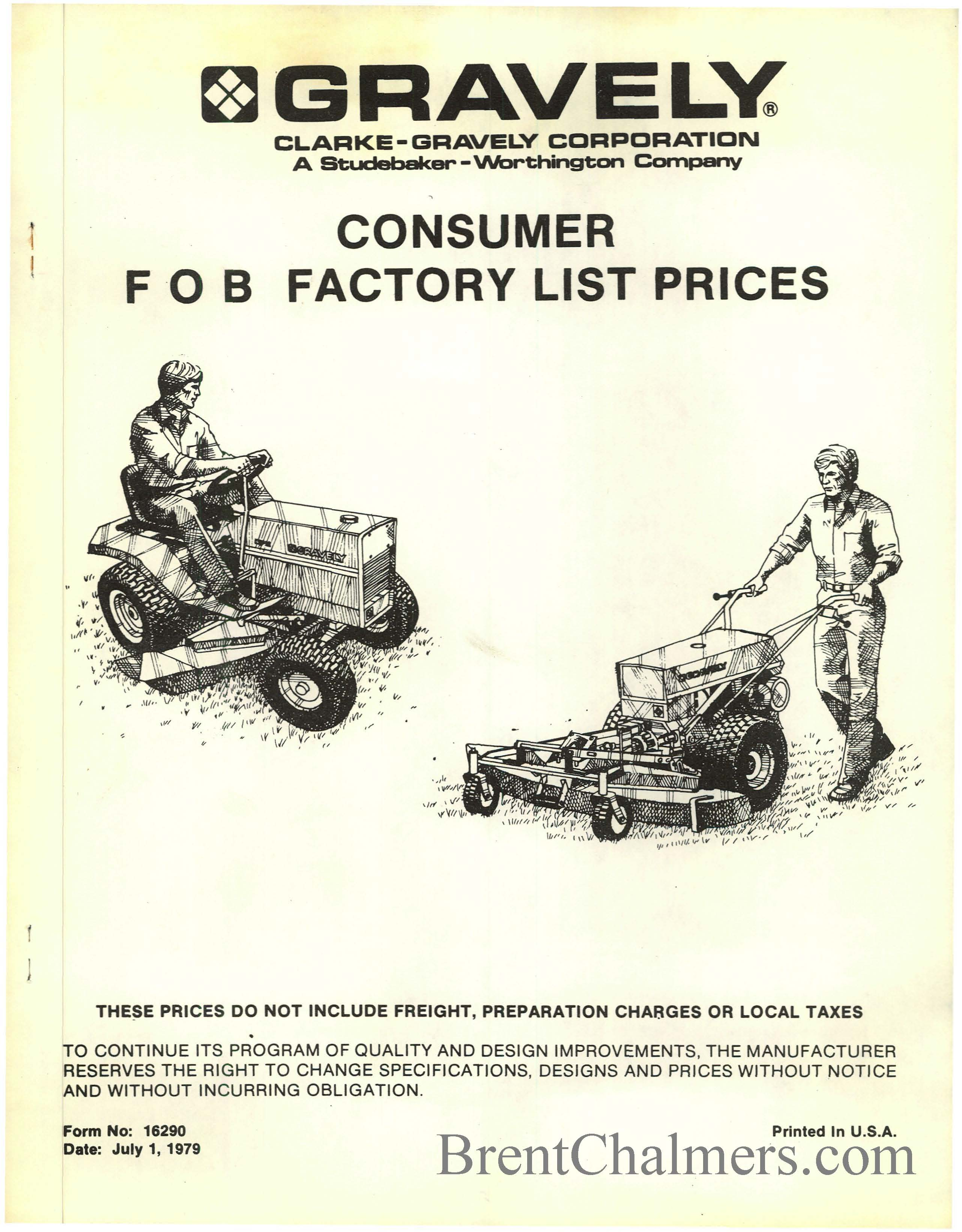 GRAVELY_CONSUMER_FOB_FACTORY_LIST_PRICES gravely tractor manuals gravely commercial 12 wiring diagram at crackthecode.co