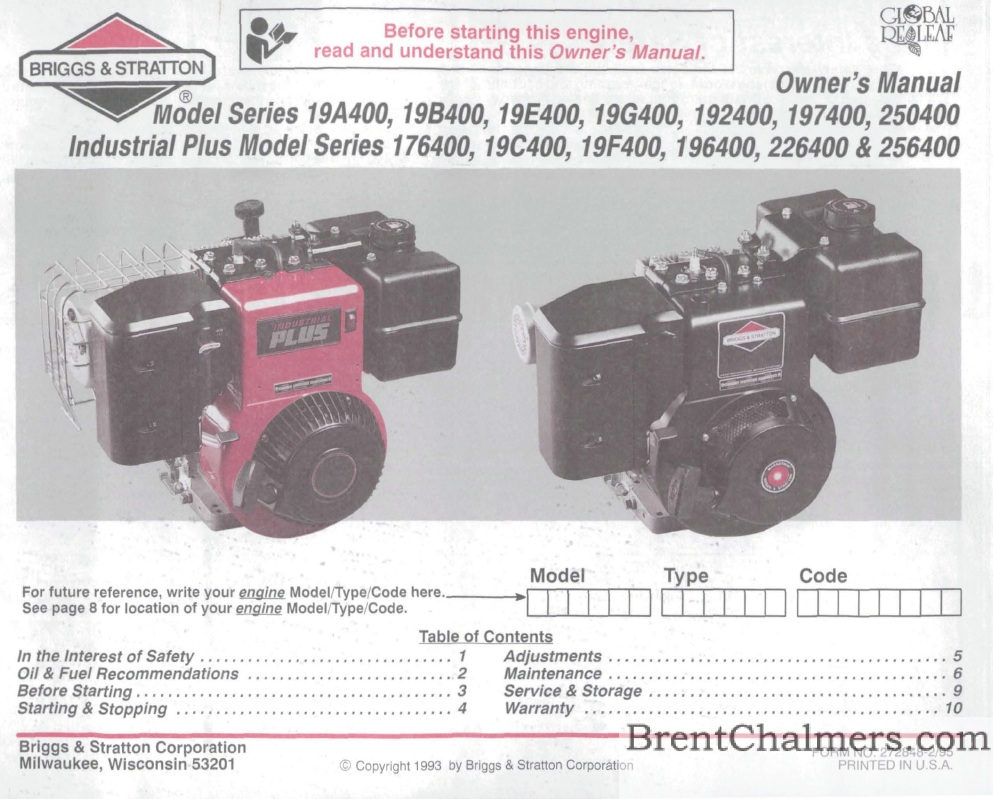 8 Hp Briggs Stratton Engine Diagram Wiring Library And Parts List For Allproductsparts