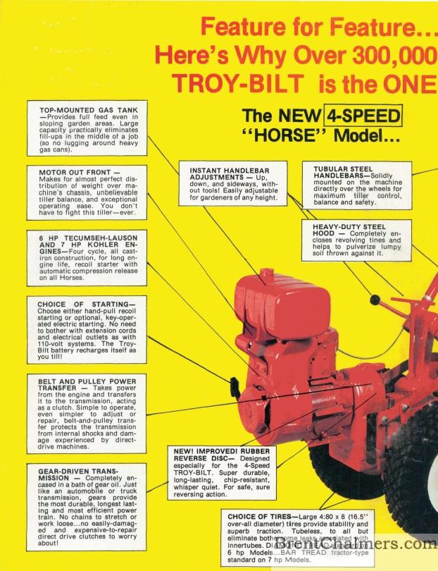 Troy Bilt Horse Tiller Belts